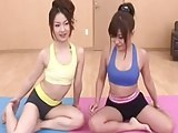 Cum and fuck two cute yoga students classroom