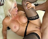 Amazing busty blonde Alena Croft gets a huge cock deep inside her pussy
