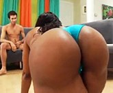 Black MILF with big ass Cherokee having fun with a white guy
