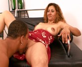 Curly haired latina MILF gets rammed by a BBC after a failed salsa lesson