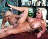 Hot blonde with huge tits Diamond Foxxx is ready for action