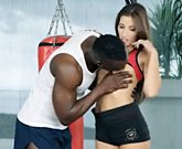 Sexy Model Clea Gaultier loves interracial anal sex
