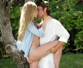 The teen blonde allowed him to enter her and she moaned ever so loudly