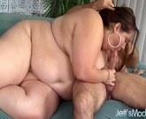 BBW Jayden Heart sucks a big dick, gets her plump shaved pussy fucked
